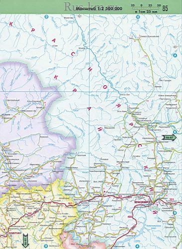 Карта дорог Западной Сибири до