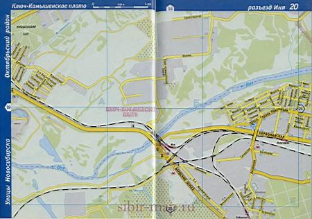 Карта Первомайского района города Новосибирска: http://sibir-map.ru/1335036.html