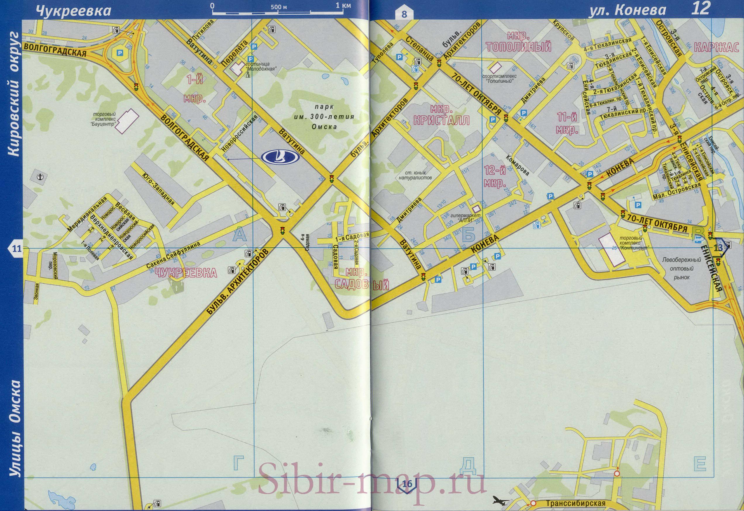 Карта окрестностей города выкса
