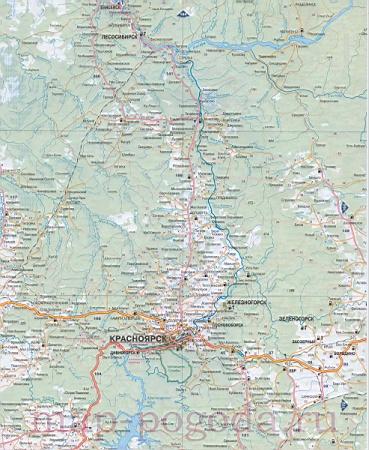 подробная карта красноярска скачать - фото 11