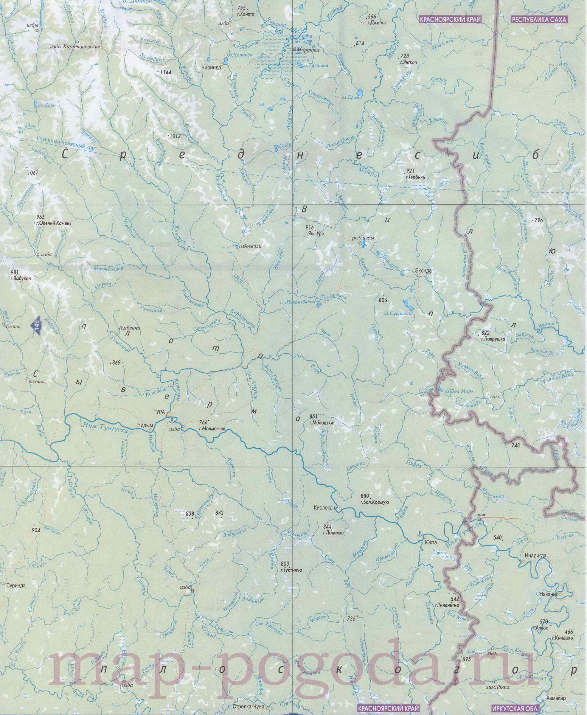карта красноярского края с полезными ископаемыми