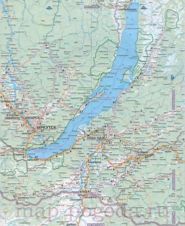 карта республики Бурятия