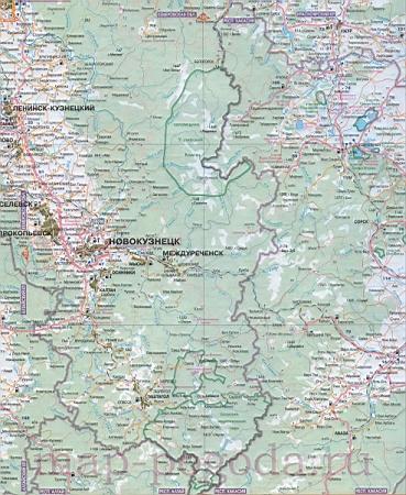 Карта дорог Хакасии. Подробная